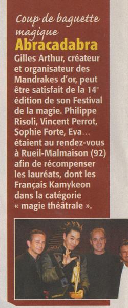 Télé Magazine Novembre 2003