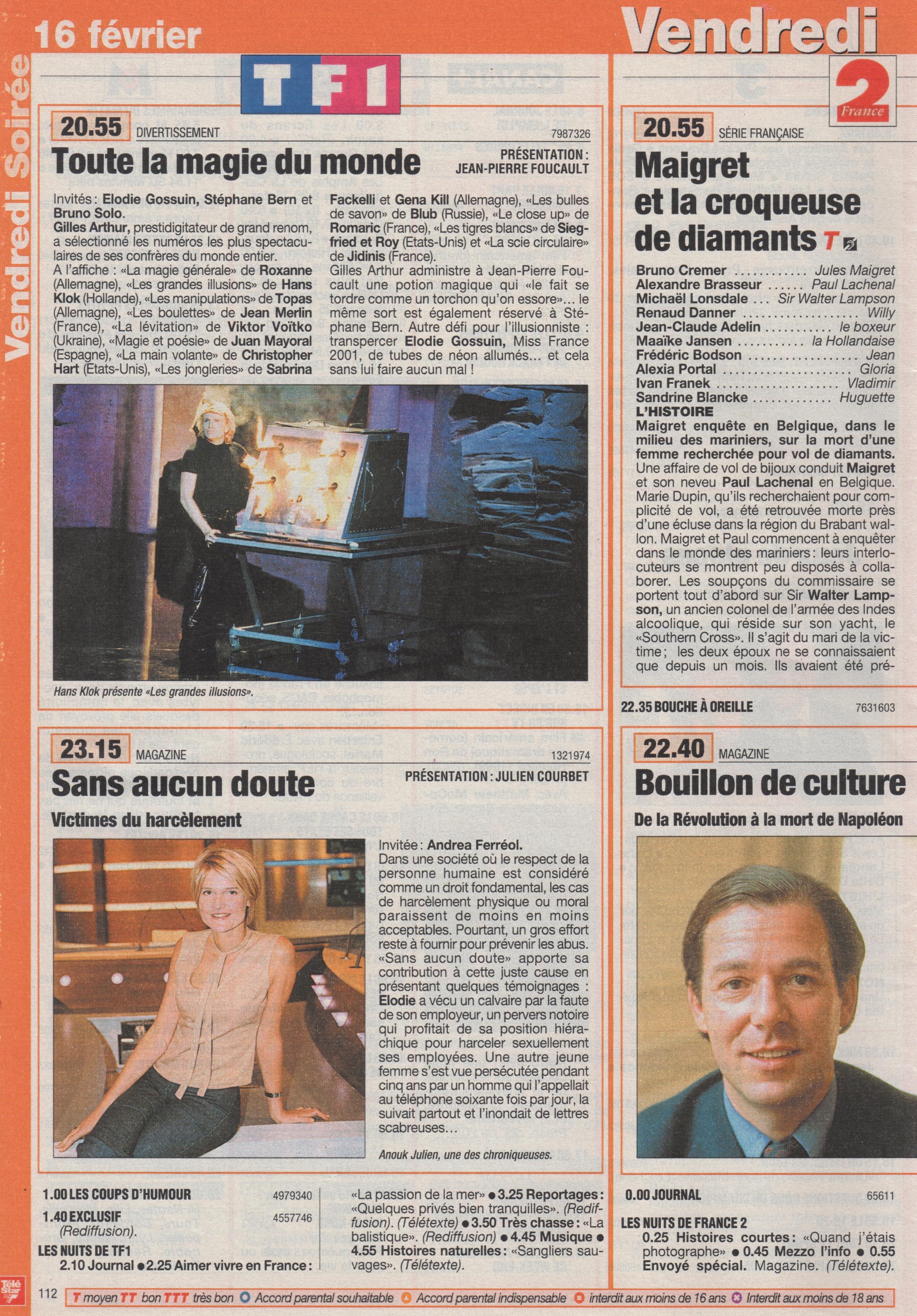Télé Star Février 2000