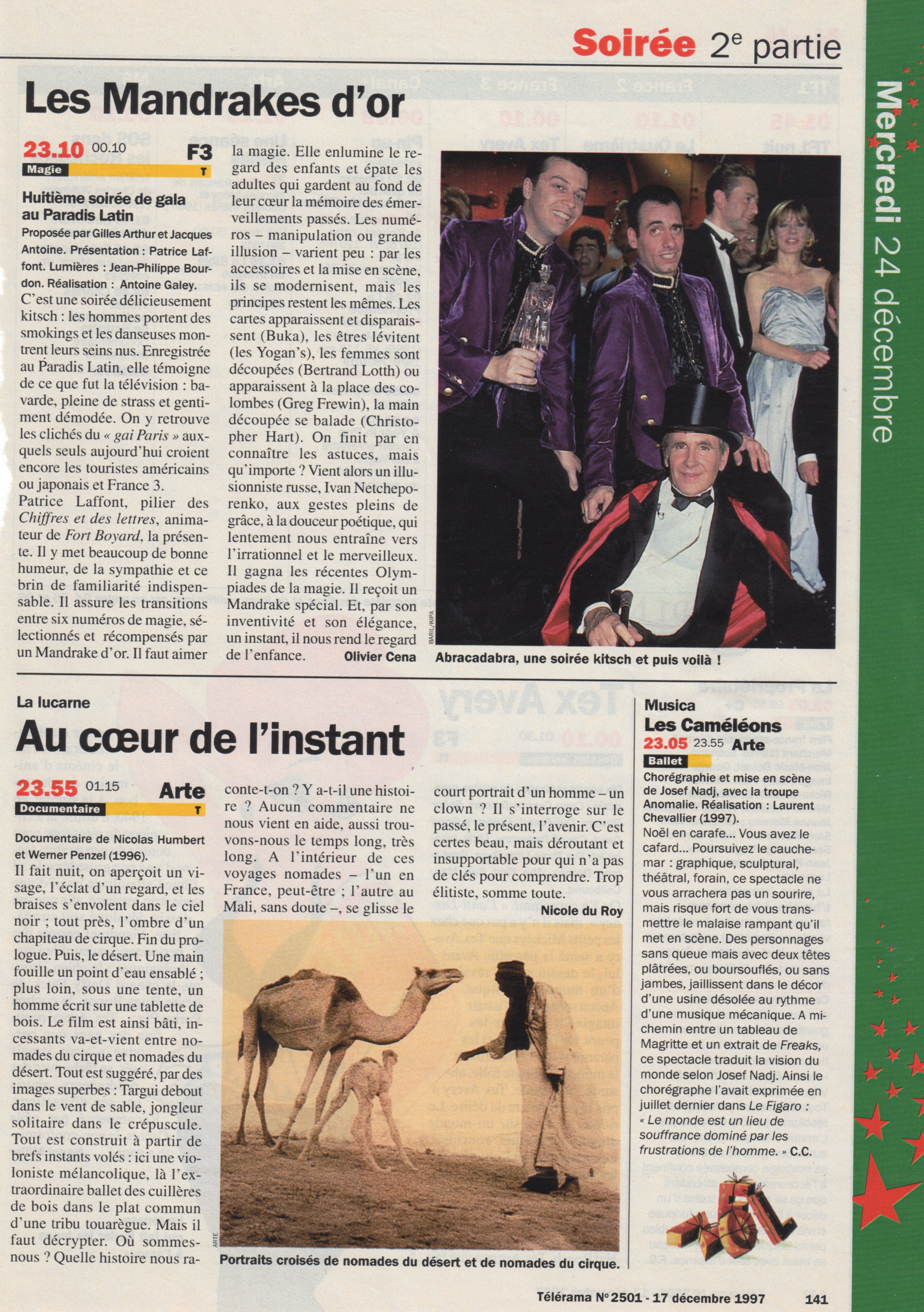 Télérama Decembre 1997