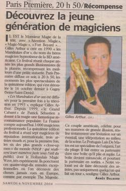 Le Parisien Novembre 2004