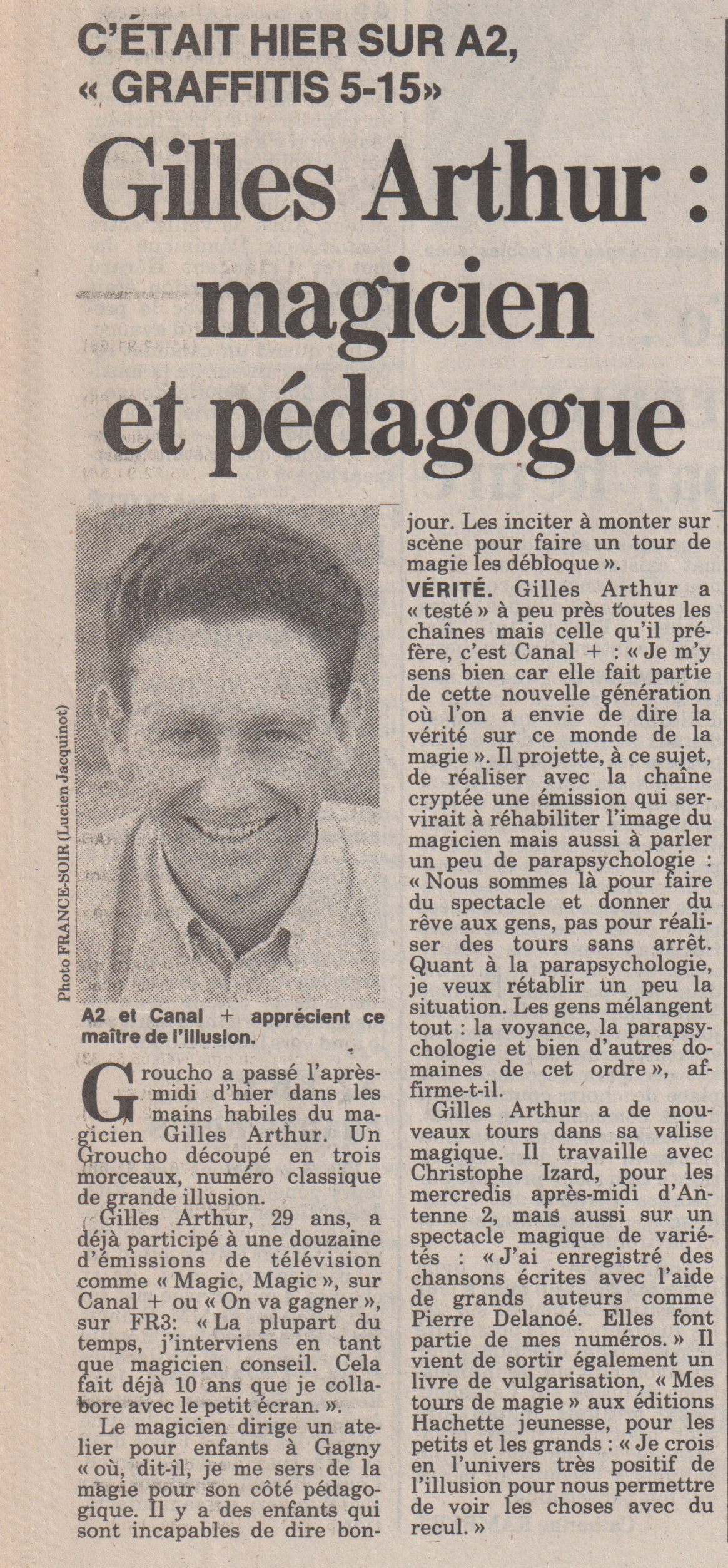 France Soir 1989