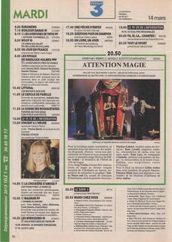 Télé 7 Jours Mars 1995