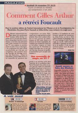 Télé Magazine Novembre 2000