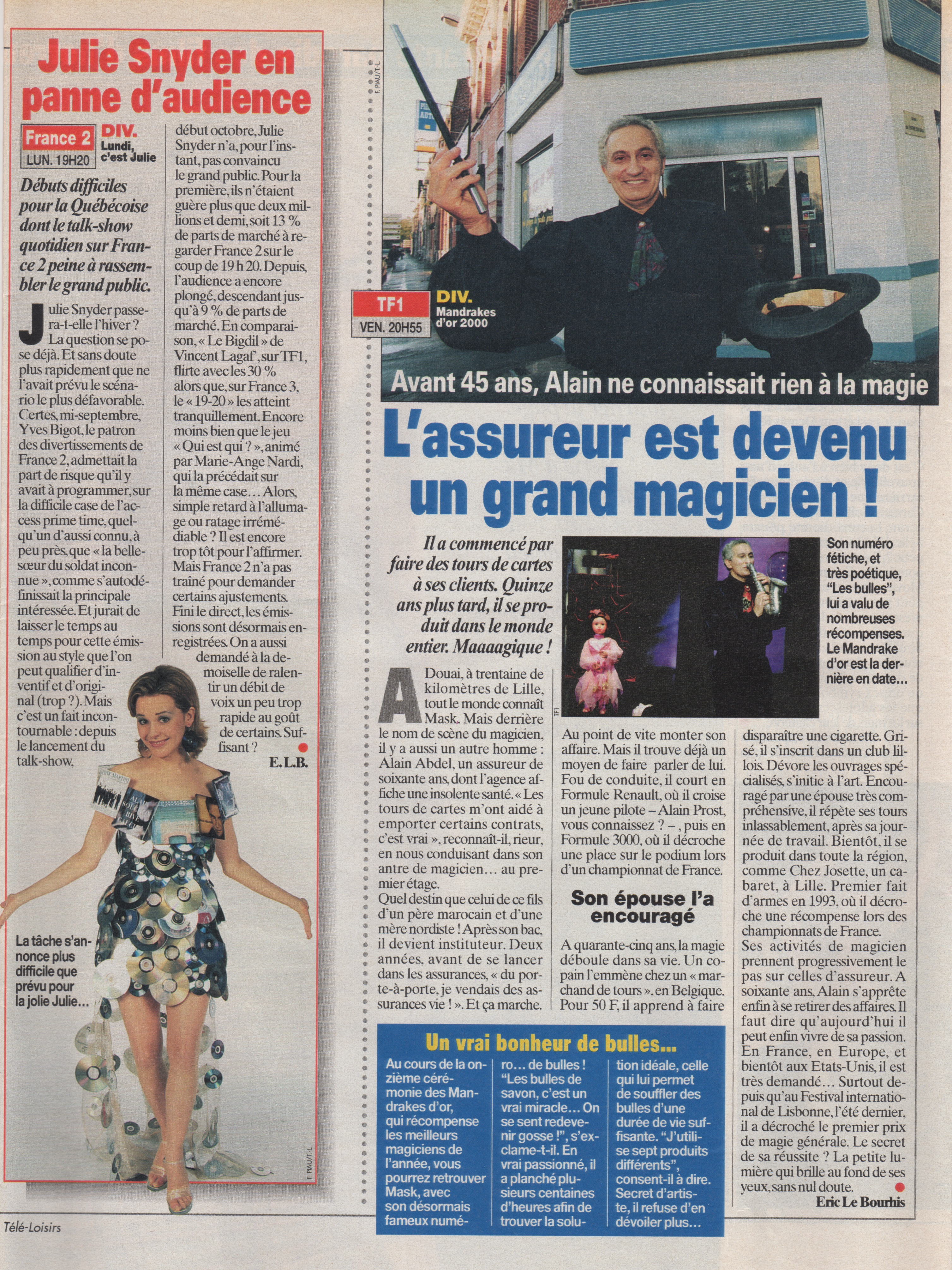 Télé Loisir Novembre 2000