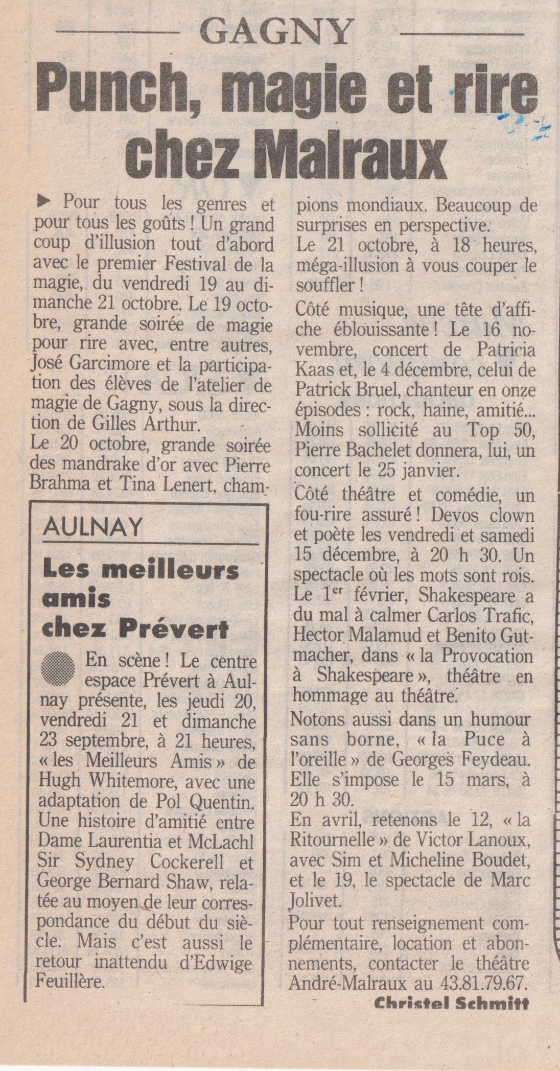 Le Parisien 1990