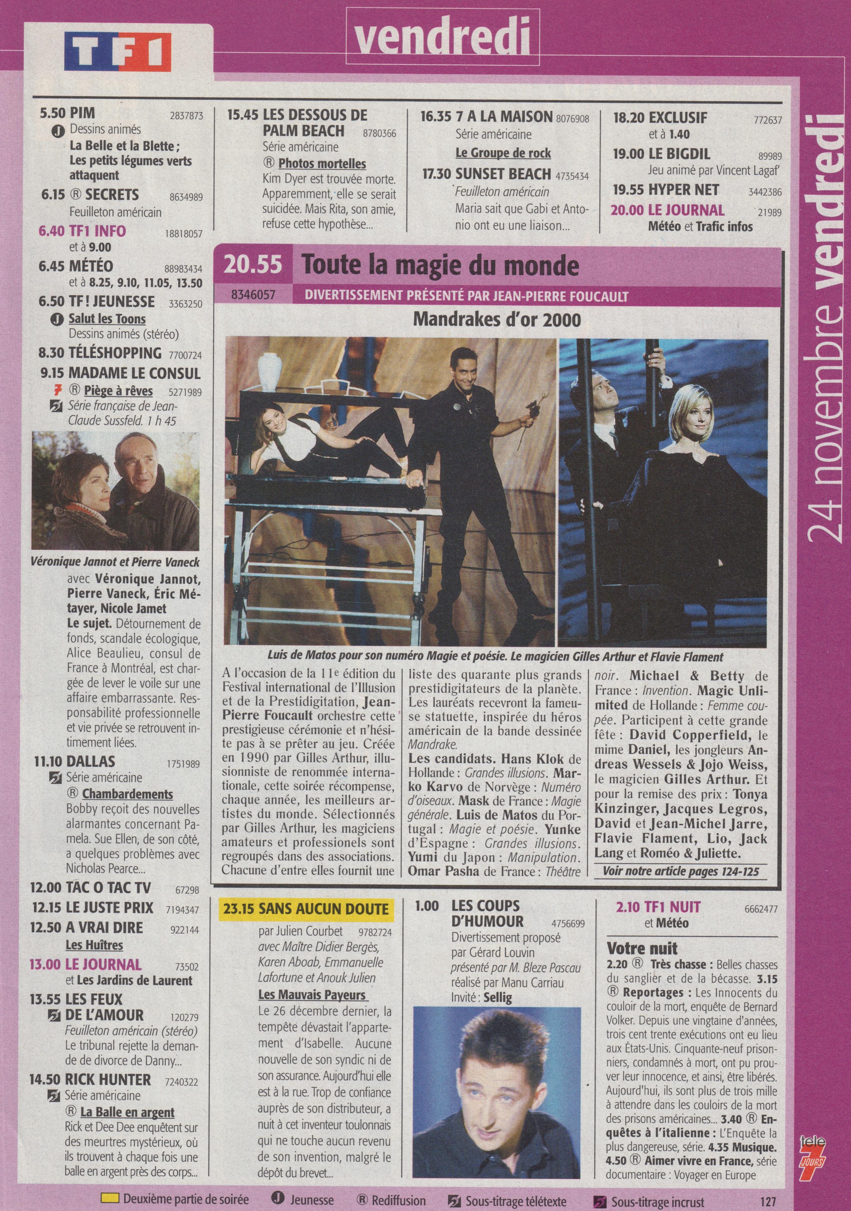 Télé 7 Jours Novembre 2000_3