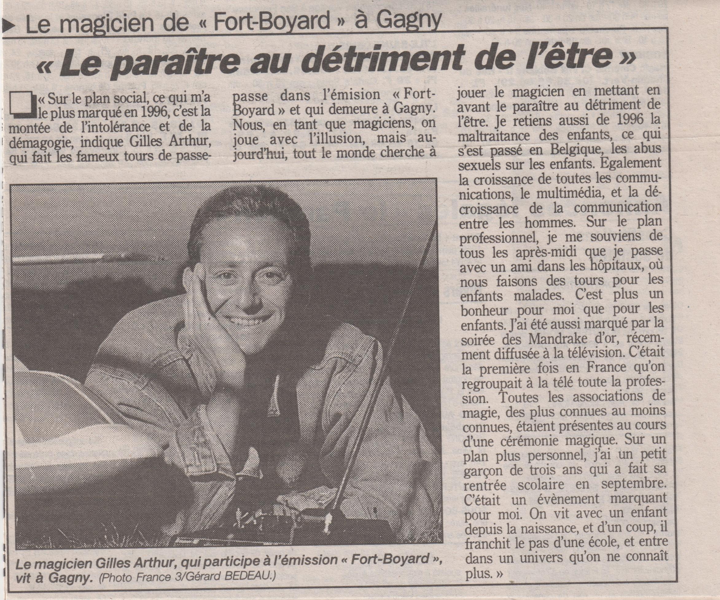 Le Parisien Juillet 1996