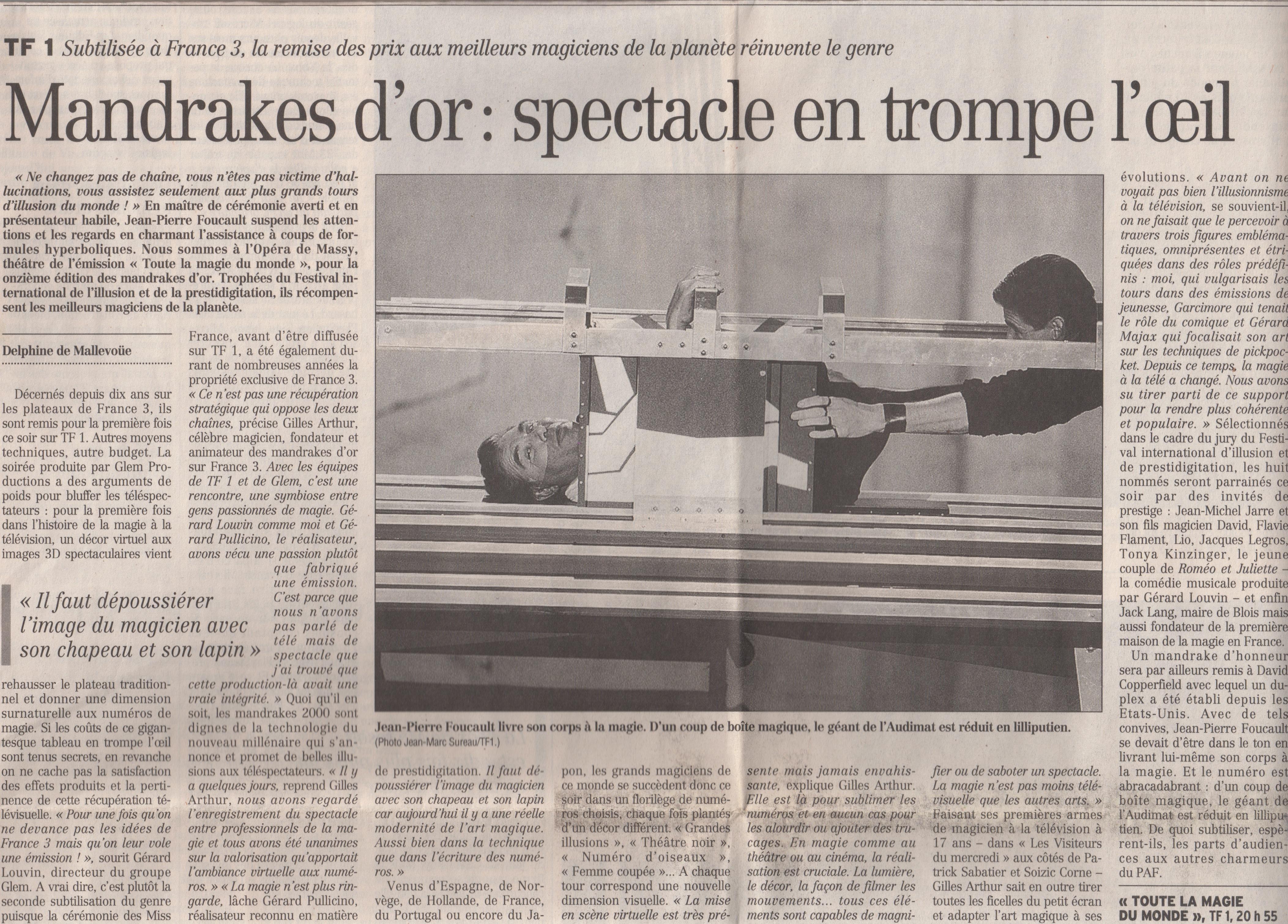Figaro Novembre 2000