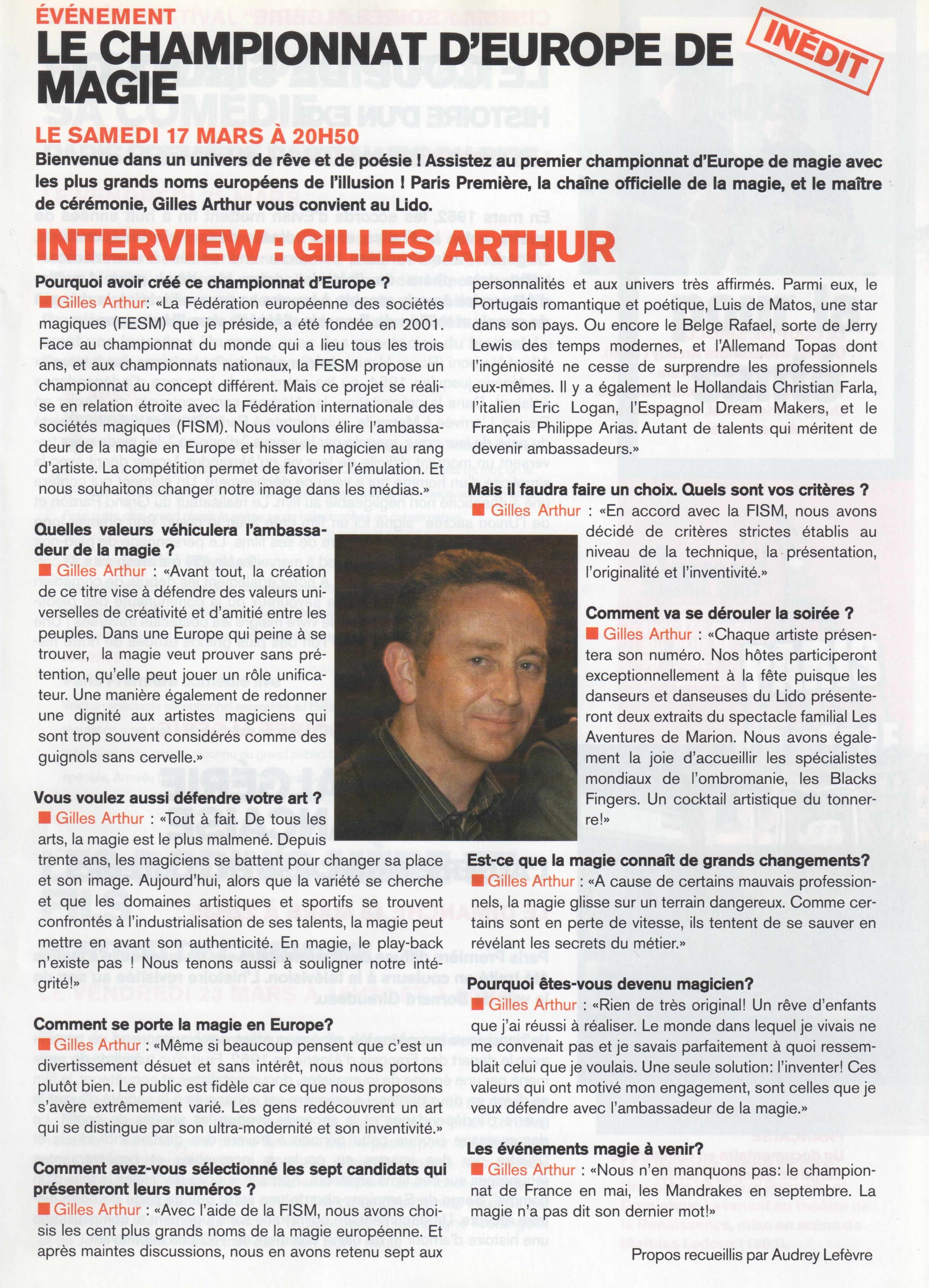 Magazine Mars 2007
