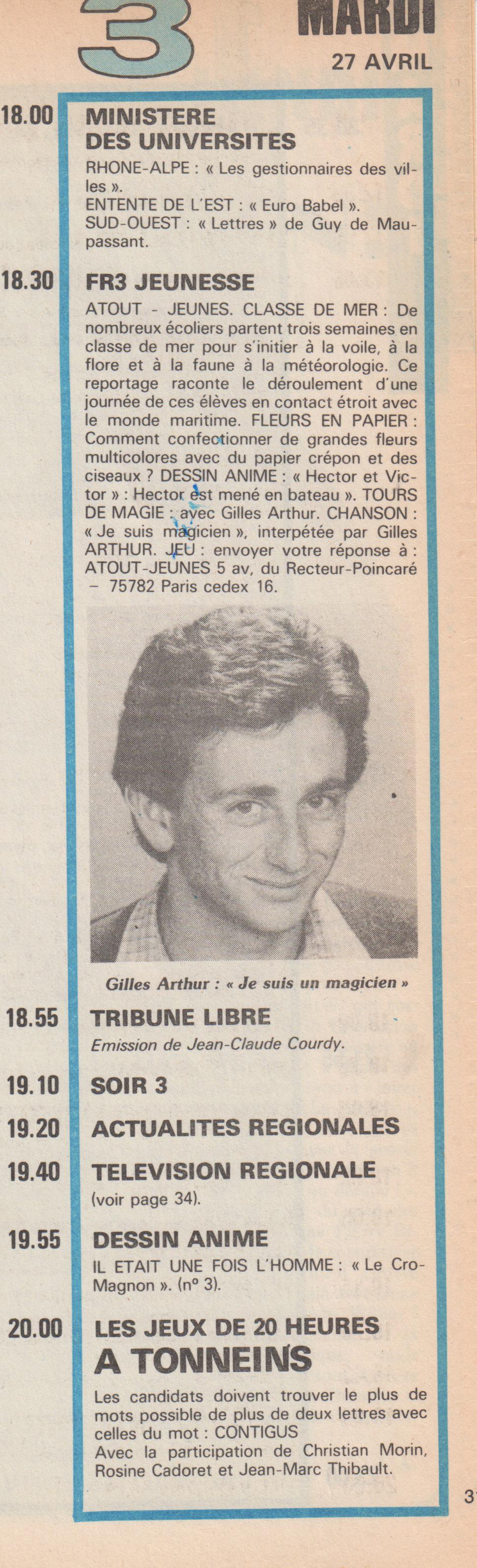 Télé Semaine 1982