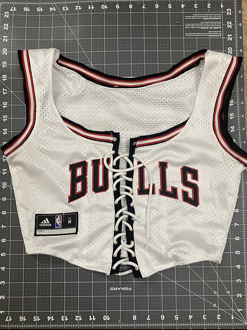 Bulls Jersey Corset Top - WHITE
