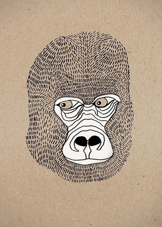 evelyn-trutmann-illustration_fauna_goril