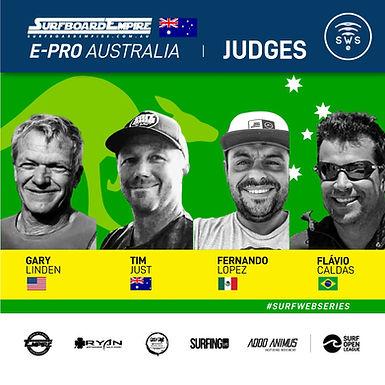 INTRODUCING YOUR SURFBOARD EMPIRE E-PRO AUSTRALIA JUDGES