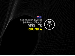 HERE ARE THE OFFICIAL RESULTS OF THE ROUND 4 OF SURFBOARD EMPIRE #EPROAUSTRALIA