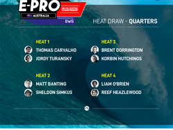 CONFIRMED THE HEAT DRAW FOR QUARTERFINALS / ROUND 5 OF THE SURFBOARD EMPIRE #EPROAUSTRALIA