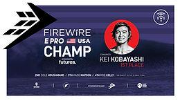 KEI KOBAYASHI CLAIMS FIREWIRE E-PRO USA PRES. BY FUTURES WIN