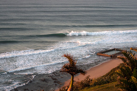 Cave Rock, Bluff, Durban. A gnarly wave for big balls surfers!""