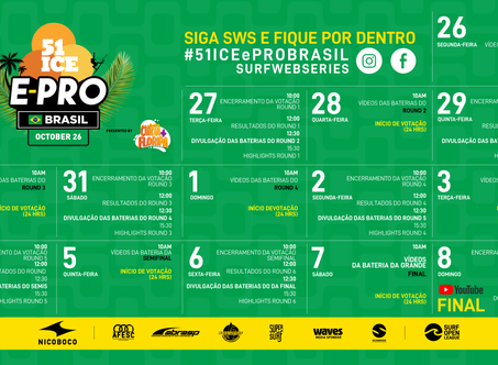 OFFICIAL CALENDAR SCHEDULE FOR THE 51ICE EPRO BRASIL