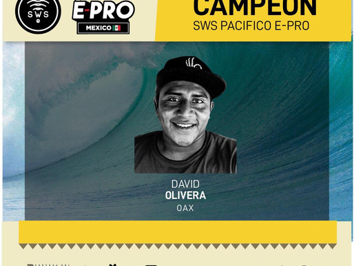 DAVID OLIVERA IS THE FIRST-EVER CHAMPION OF #BODYBOARD #PACIFICOEPROMEXICO!