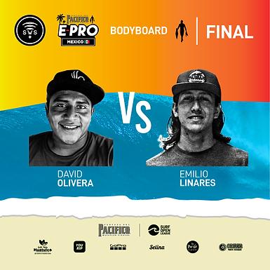 BODYBOARD FINAL HEAT DETERMINED: DAVID OLIVERA VS EMILIO LINARES BATTLE FOR CHAMPIONSHIP OF MEXICO
