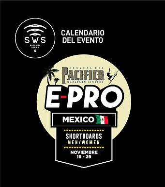 PACIFICO E-PRO MEXICO OFFICIAL CALENDAR