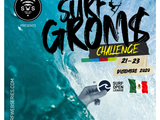 SURF WEB SERIES PRESENTS #GROMSCHALLENGEMEXICO, THE FIRST CONTEST FOR GROMS