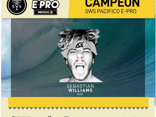 SEBASTIAN WILLIAMS, THE MEN'S CHAMPION OF #PACIFICOEPROMEXICO 2020!