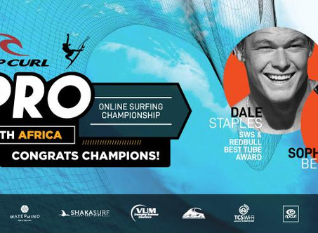 Rip Curl E-Pro Online Surf Contest concludes with victorious participation by Staples and Bell
