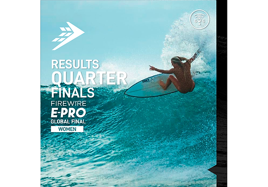 THE OFFICIAL RESULTS OF WOMEN'S QUARTERFINALS OF FIREWIRE E-PRO GLOBAL FINAL
