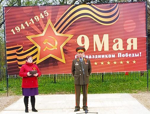 Открытие памятника в деревне Волынцево
