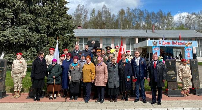 Митинг в честь Дня Победы в сельском поселении Заволжский