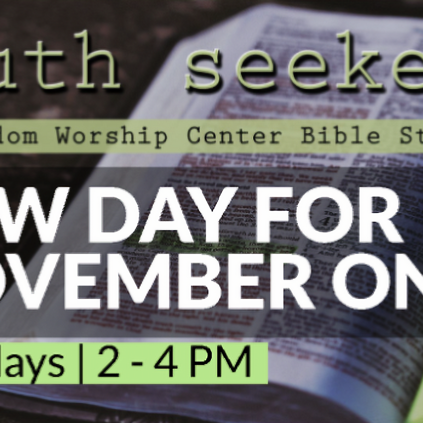 Truth Seekers | FWC Bible Study