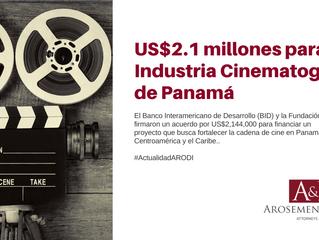 US$2.1 millones para industria cinematográfica