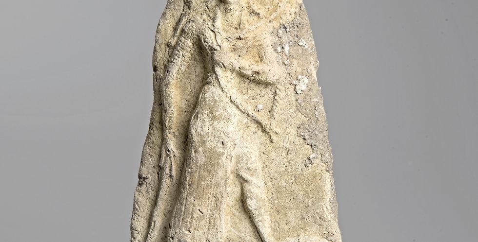 Babylonian terracotta plaque of warrior goddess Ishtar