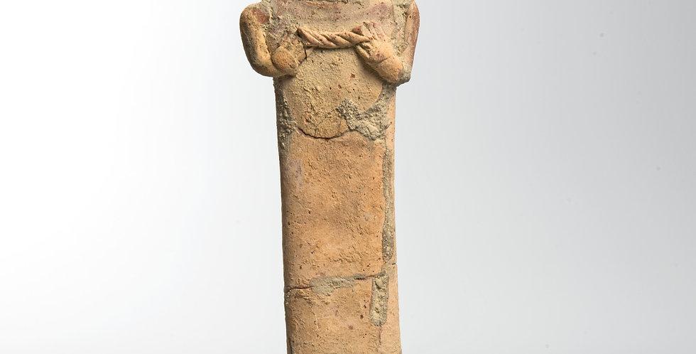 Ancient Near East Syro-Hittite terracotta idol