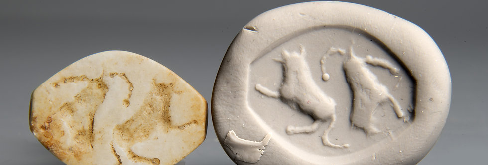 Late Uruk/Jemdet Nasr period Mesopotamian seal: Circa 3000 BC
