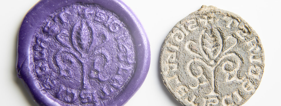 Rare British medieval double-sided personal lead seal