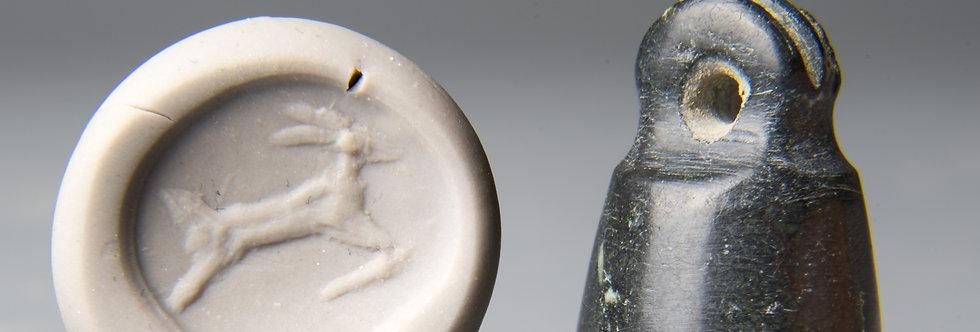 Urartu stone bell-shaped stamp seal