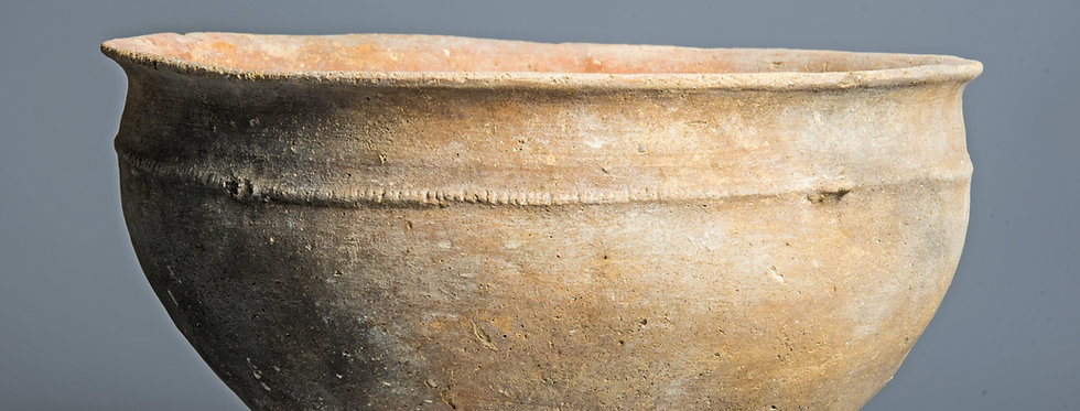 Large Early Bronze Age Decorated Holy Land bowl