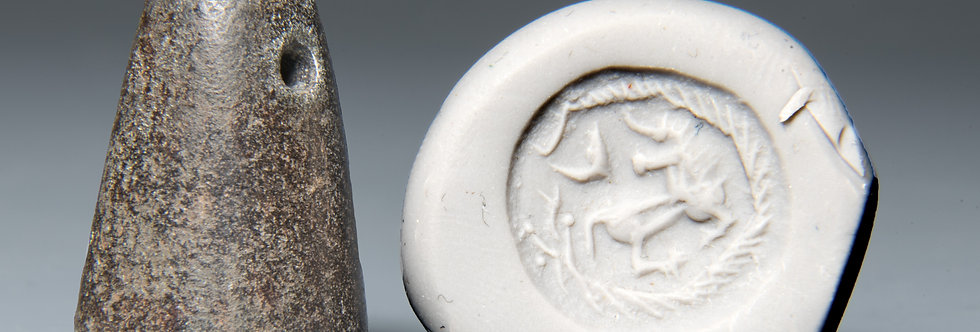 Iron-Age stamp seal with animals