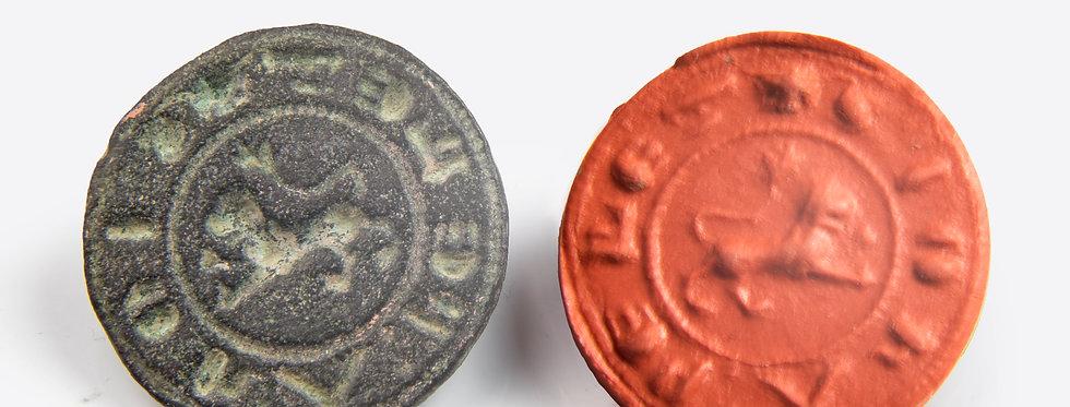 Medieval seal matrix for John the Furrier