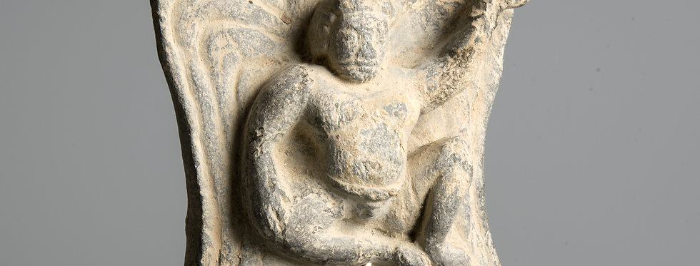 Gandhara relief panel with winged Atlas