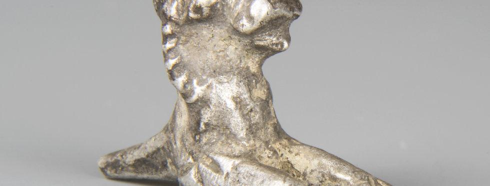 Roman silver lion statuette