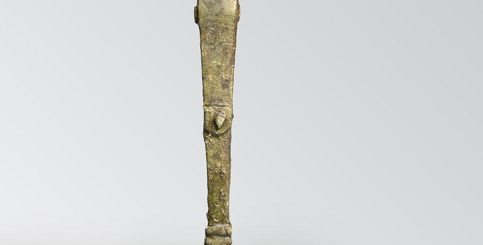 Roman bronze herm figural hasp