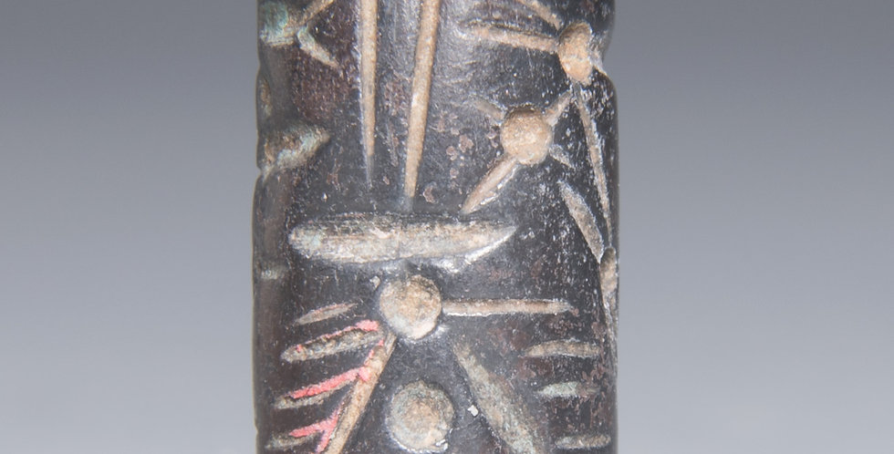 Mitanni Cylinder seal made of black stone