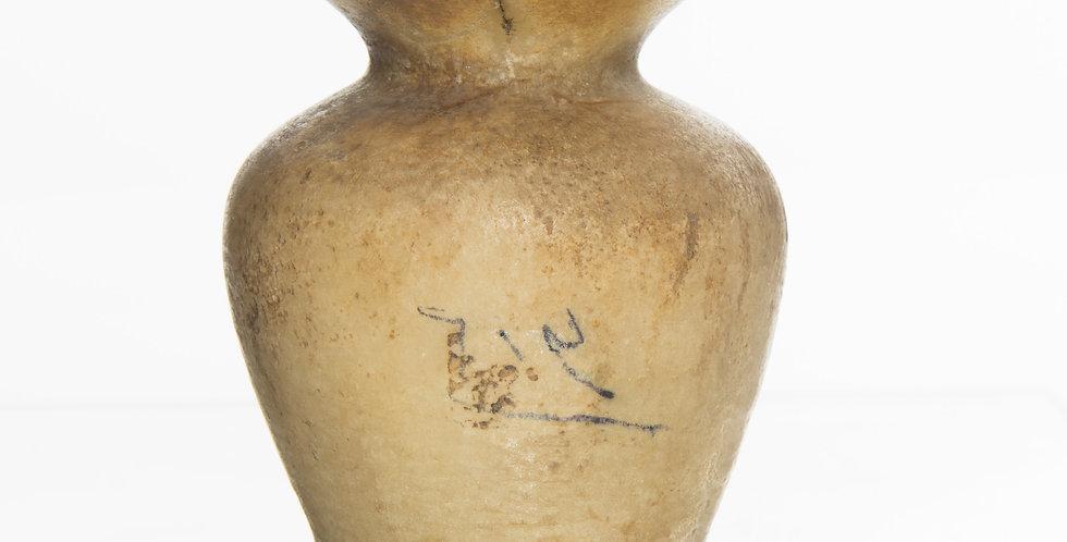 Good-sized Egyptian New Kingdom alabaster kohl jar