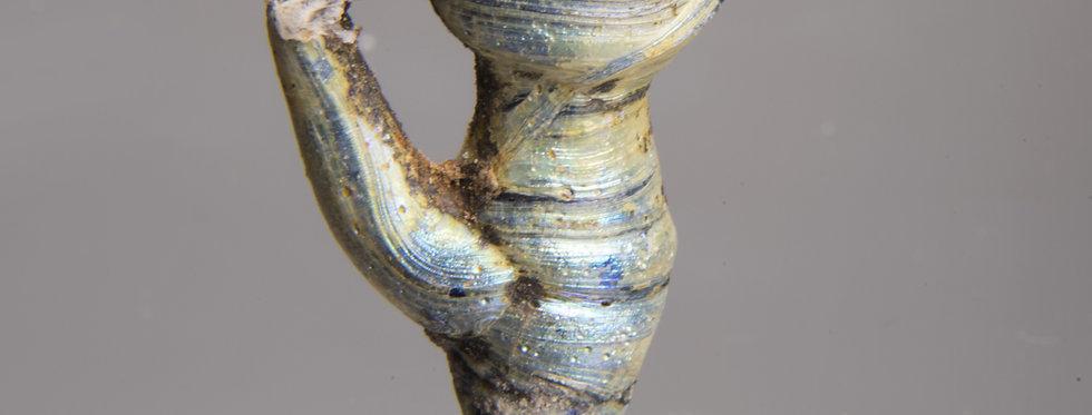 Rare Roman rod-formed pendant shaped like a pitcher