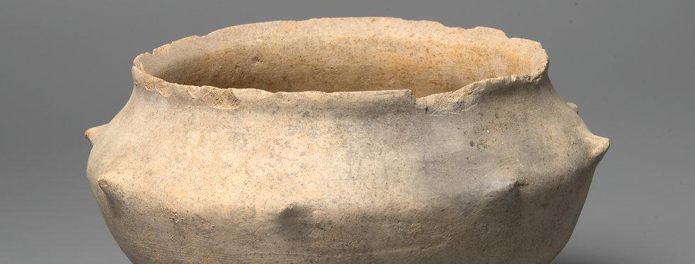 Rare Holy Land Early Bronze Age nippled bowl