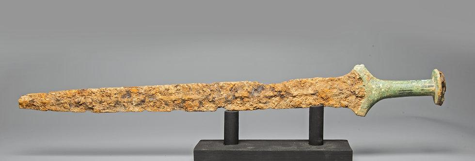 Luristan Iron-age rare bronze and iron sword