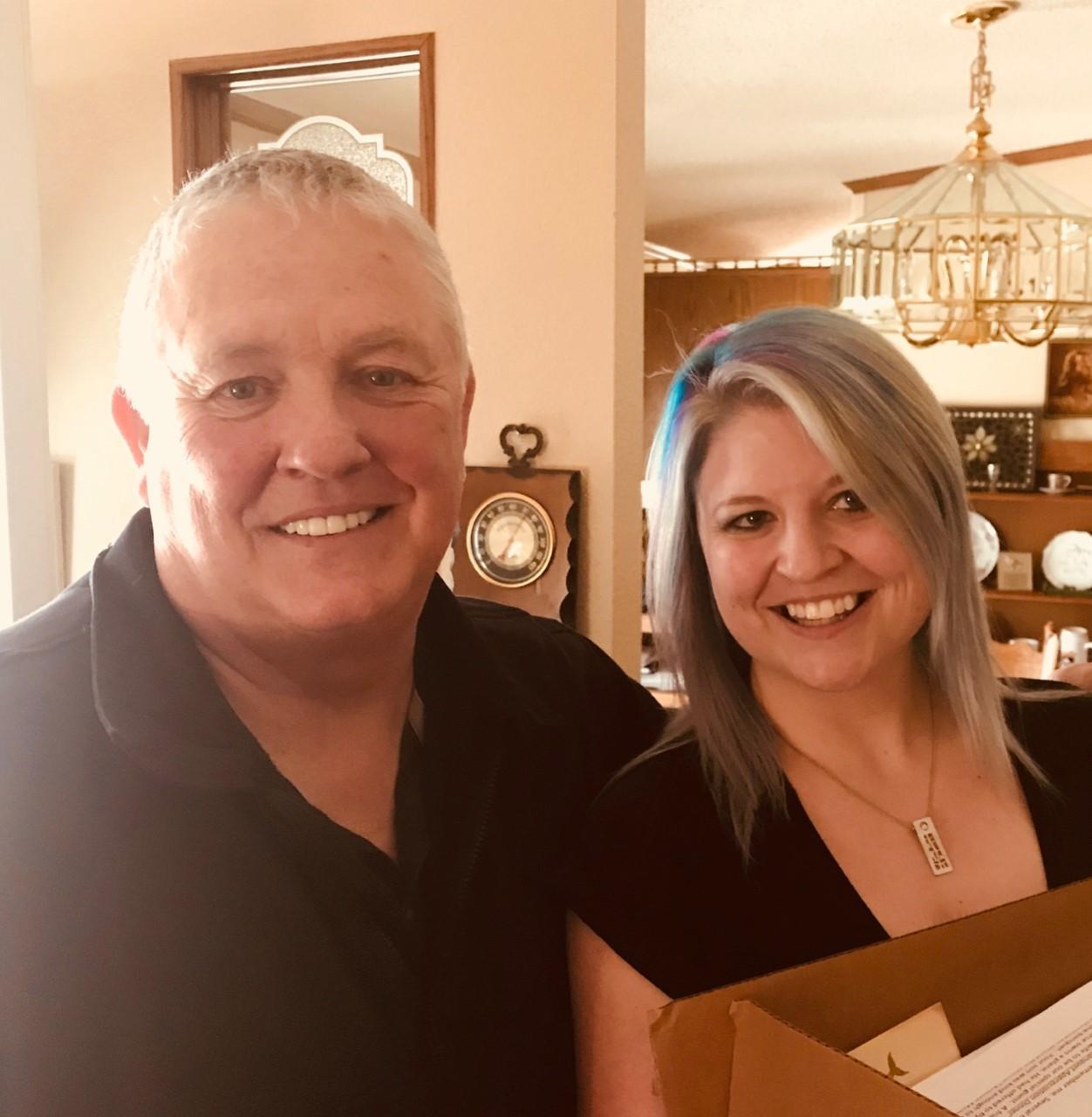 Nikki Stratton with Warren Hull